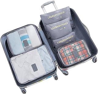 6 Set Travel Luggage Packing Cubes Space Saver Storage Organizer Bags (Grey)