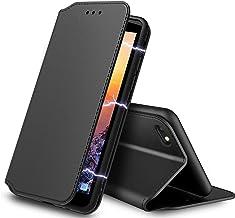 AURSTOR Etui Coque pour Iphone Se 2020,Iphone 8,Coque Iphone 7,Protection Housse en Cuir PU Portefeuille,[Ranges Cartes],[Fermeture Magnétique] pour (Iphone 7/8/SE 2020 (4,7 Pouces), Slim Noir)