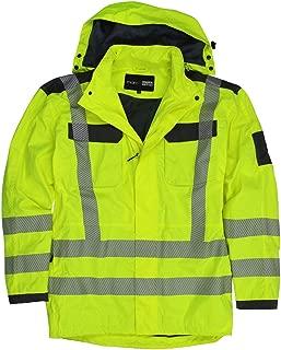 NEU unisex wasserfest Bomber Jacke Signalfarbe Arbeitskleidung gepolstert