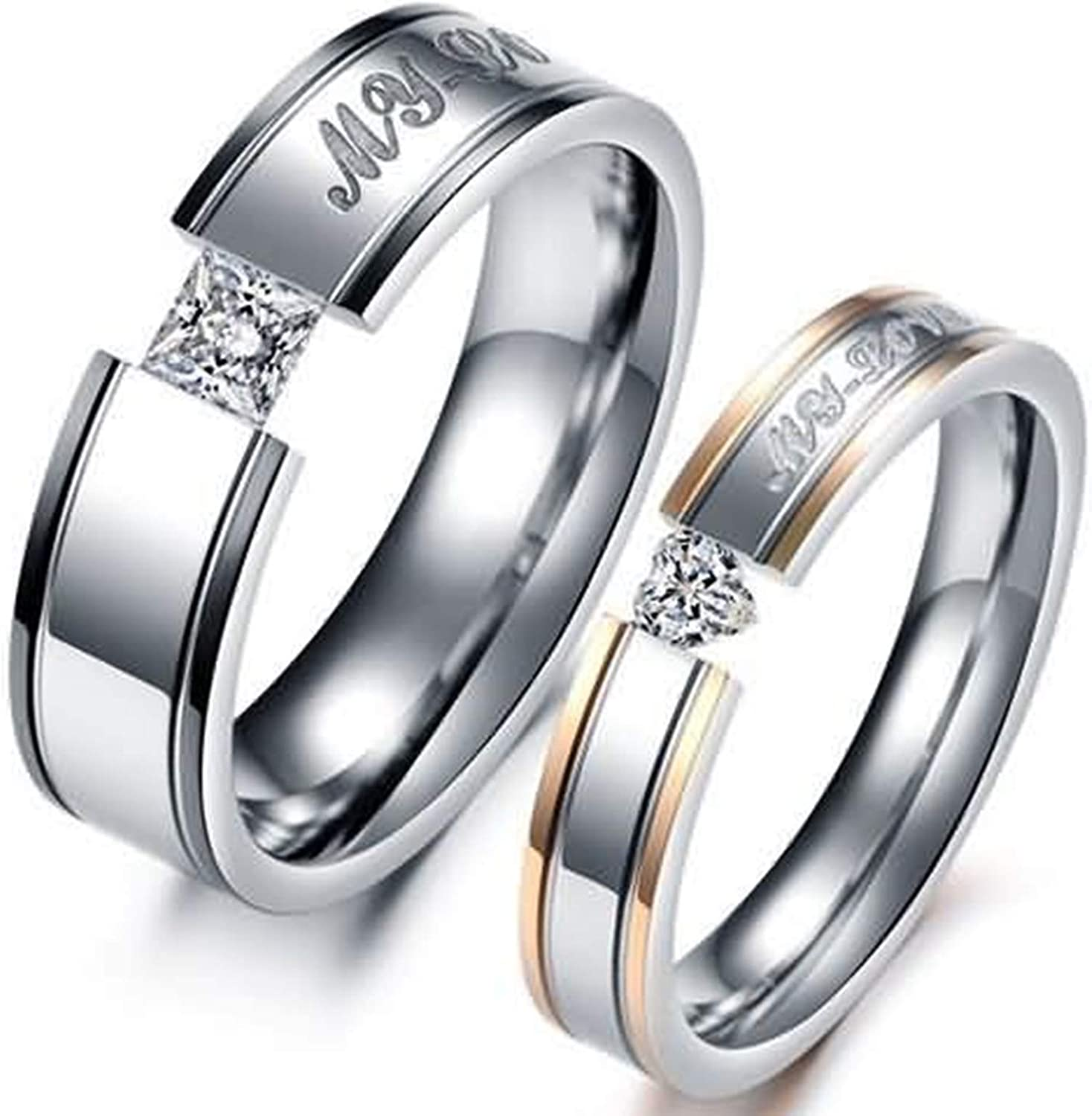 Ultra-Cheap Deals lowest price Beydodo His and Hers Wedding Matching Set for Ring Bands
