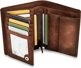 GenTo® Dublin Protección RFID y NFC - Billetera de Hombre con Compartimento para Monedas - Cartera espaciosa - Cartera de ...