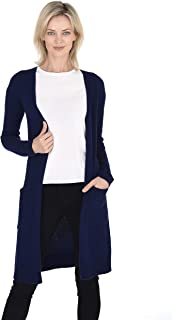 Cashmeren Mid-Length Open Cardigan 100% Cashmere Long Profile Sleeved Sweater for Women