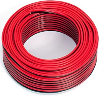 Luidsprekerkabel 2x0,75mm2-25m - rood-zwart - CCA - audiokabel - boxkabel