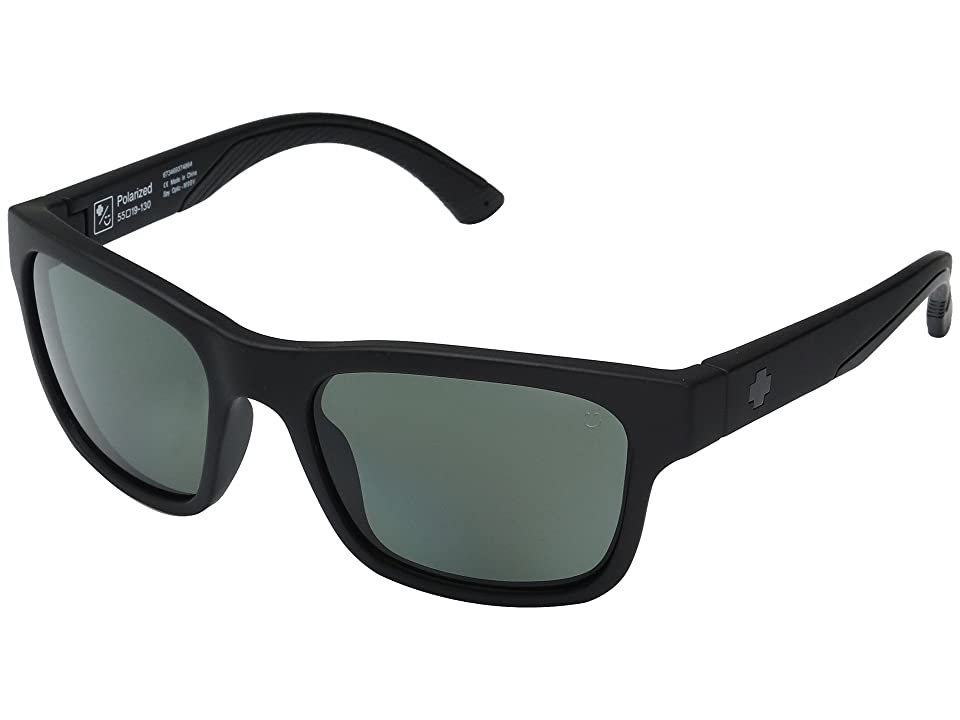 Spy Optic Hunt (Matte Black/Happy Gray/Green Polar) Athletic Performance Sport Sunglasses
