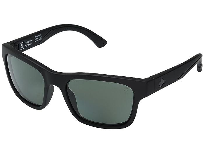 Spy Optic Hunt (Matte Black/Happy Gray/Green Polar) Athletic Performance Sport Sunglasses