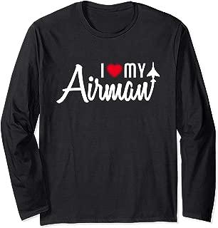 I Love My Airman Flying Gift Long Sleeve T-Shirt