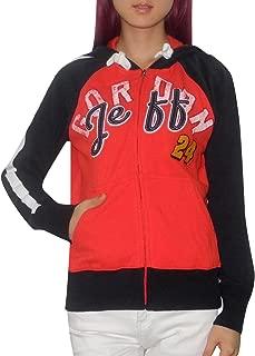 NASCAR JEFF GORDON #24 Womens Athletic Zip-Up Hoodie (Vintage Look)