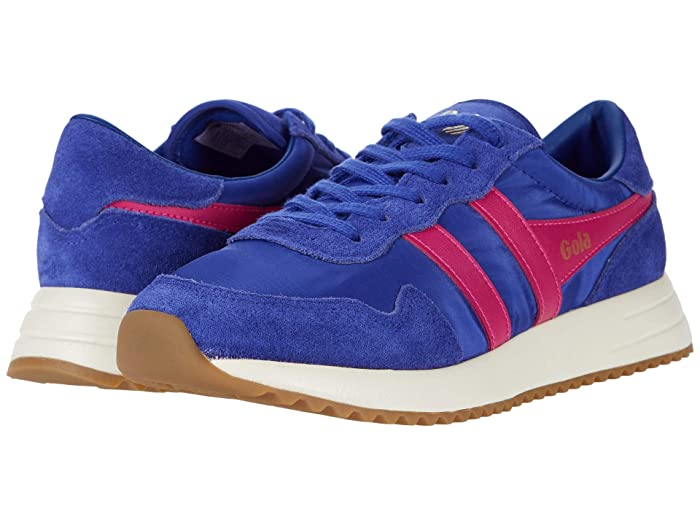 Retro Sneakers, Vintage Tennis Shoes Gola Vancouver Marine BlueFuchsia Womens Shoes $71.25 AT vintagedancer.com