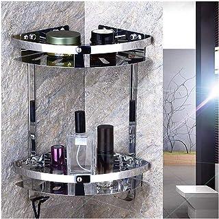 Antirouille Étagères d'angle en acier inoxydable salle de bains douche multi-couche Organisateur Caddies Panier de rangeme...