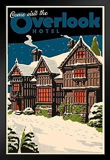 Come Visit The Overlook Hotel Famous Movie Vintage Travel Black Wood Framed Art Poster 14x20