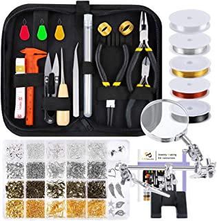 PP OPOUNT Jewelry Making Supplies Wire Wrapping Kit with Jewelry Beading Tools, Jewelry Wire, Helping Hands, Jewelry Findi...