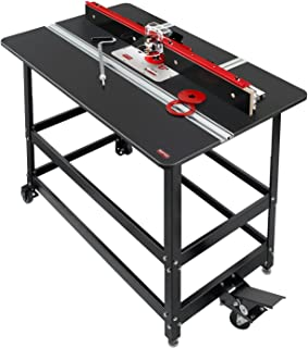 Woodpeckers Precision Woodworking Tools PRP-4-V2420 Premium Router Package with 27 x 43 x 3/4 Thick Commercial Grade Phenolic Router Table For Porter Cable 7518 and 7519