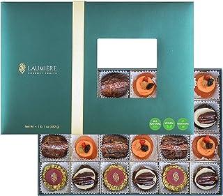 Laumière Gourmet Fruits - Le Cadeau Parfait Collection - Rectangle Box (24 Pcs) - Healthy Gift Box - Holiday Fruits & Nuts - Gluten Free - Sympathy
