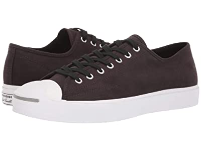 Converse Jack Purcell Twill and Reflective Ox (Velvet Brown/Black/White) Shoes