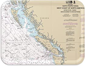 Trays4Us Vancouver Island 16x12 inches (Large) Map Serving Tray - 70+ Different Designs