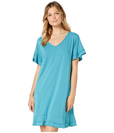 Mod-o-doc Cotton Modal Tiered Flounce Sleeve Shift Dress (Antigua) Women