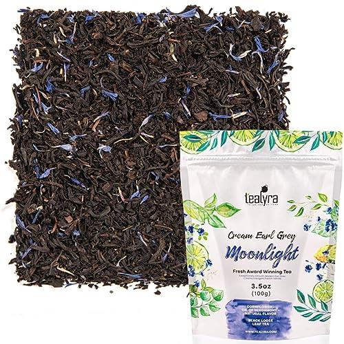 Tealyra - Cream Earl Grey - Classic Black Loose Leaf Tea - Citrusy with Vannilla Flavor - Fresh Award Winning Tea - Medium Caffeine - All Natural Ingredients - 100g (3.5-ounce)