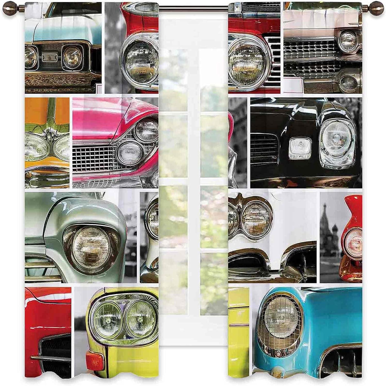 New popularity 1960s Decorations Heat Insulation Curtain Retro Classic Cars Fresno Mall Au