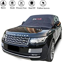 Windshield Snow Ice Cover, ZACAR Windshield Cover for Ice and Snow with Mirror Snow Covers, Elastic Hooks Design Will Not Scratch Paint , Fits Most SUVs Trucks with 96