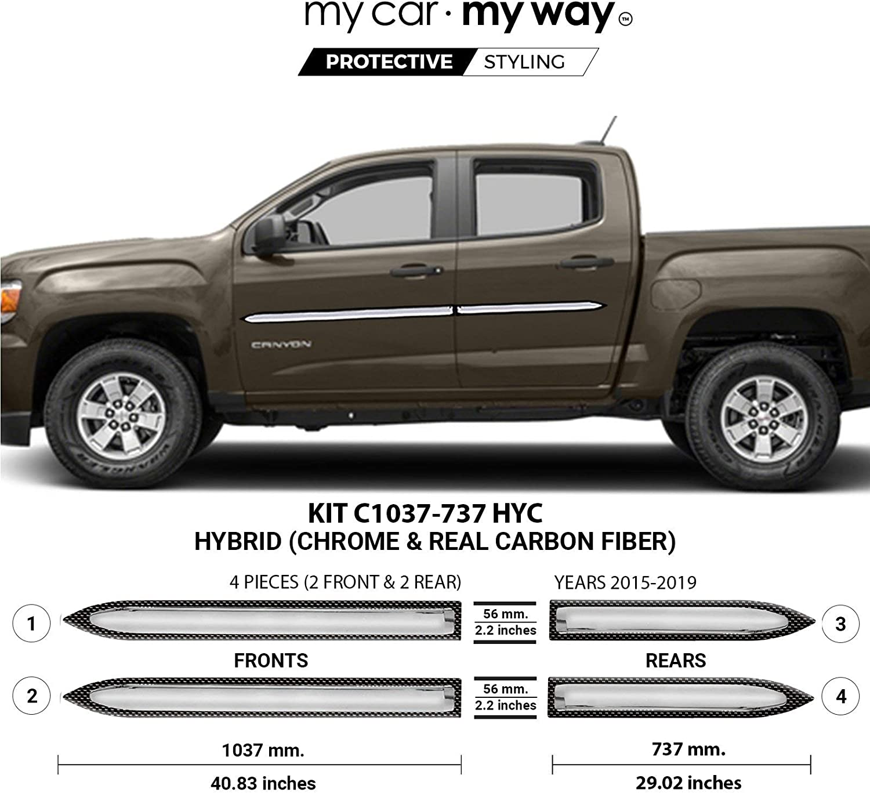 MY CAR WAY Fits GMC Canyon Cab Short 2015-2019 Hyb Crew Rapid Same day shipping rise Box