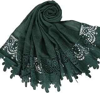 Women's Lace Cotton Scarf Fashion Solid Lace Long Shawl Wrap
