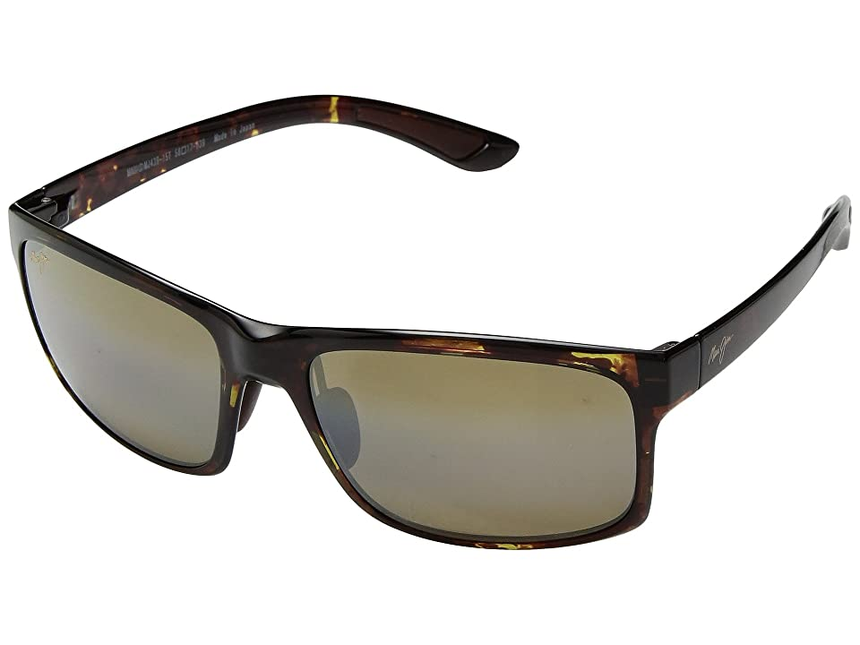 Maui Jim Pokowai Arch (Olive Tortoise/HCL Bronze) Athletic Performance Sport Sunglasses