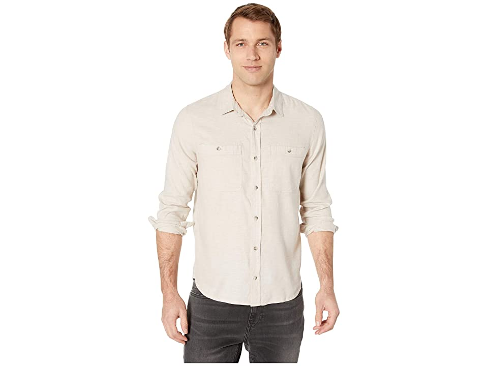 Toad&Co Taj Hemp Long Sleeve Shirt Slim (Oatmeal Chambray) Men