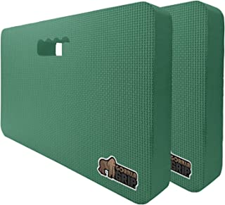 Gorilla Grip Original Premium Thick Kneeling Pads, 2 Pack, Comfortable Foam Mats to Kneel On, Knee Pad Cushion for Gardening, Yoga and Bath Room Floor for Baby Bath, 2 17.5 x 11 Inch x 1.5 Inch, Green