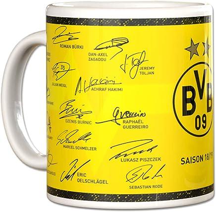 Preisvergleich für Borussia Dortmund BVB Kaffeebecher/Tasse ** Unterschriften Saison 2018/2019 **