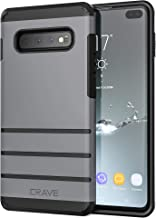S10+ Case, Crave Strong Guard Heavy-Duty Protection Series Case for Samsung Galaxy S10 Plus - Slate