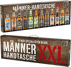 KALEA Männerhandtasche XXL, 12 Biere von Privatbrauereien aus Deutschland, Geschenk für Männer