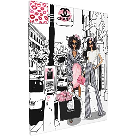 Fashion Women Art//Canvas Print Wall Art Home Decor F Poster