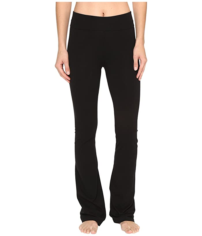 Hard Tail Rolldown Bootleg Flare Pants (Black) Women