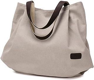 BOLUORY トートバッグ キャンバスバッグ 帆布 かわいい おしゃれ マザーズバッグ レディース 無地 肩掛け ショルダーバッグ 大容量 折りたたみ エコ バッグ