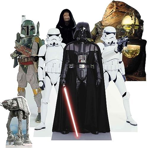 TT020 Star Wars Villains - Adornos de mesa con 7 mini cortes emperador palpatina y muchos más artículos de fiesta per...