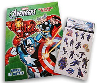 Avengers ''Brave in Battle'' Coloring and Activity Book with Sticker Sheets (Includes Games, Puzzles, Mazes, and More) - 9...