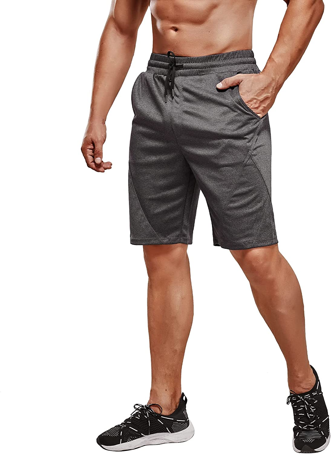 HAENPISY Mens Athletic Shorts Gym Zipper with Poc sold out outlet Workout