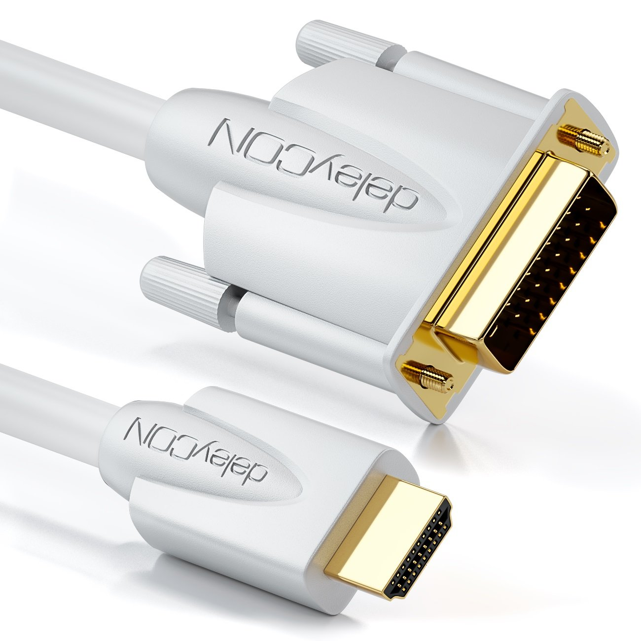 deleyCON 5m Cable HDMI a DVI - Conector HDMI para Enchufe DVI 24+1 HDTV Full HD 1080p 1920x1080: Amazon.es: Electrónica