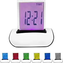 Colour 7 LED Digital LCD Alarm Clock+Thermometer