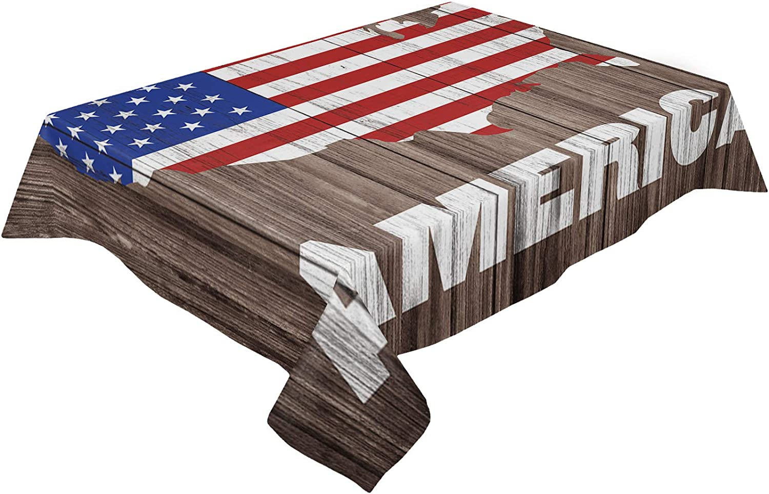 Savannan Kitchen Table Cloth American Map outlet Day Flag Independence Sales