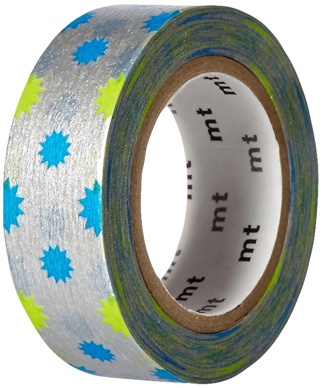 MT Washi Masking Tape, 1P Deco, 15mm x 10m, KiraKira Silver (MT01D296)