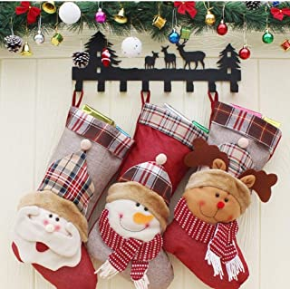 Christmas Tree Ornaments and Decorative Christmas Stocking Christmas Elderly Snowman Gift Bags The New Christmas Stockings,Durability (Color : Three-Piece, Size : 27 * 46 * 23.5CM)