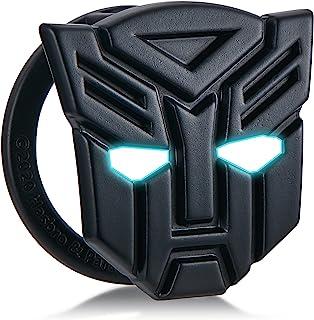 دکمه شروع دکمه اتومبیل ترانسفورماتور پوشش محافظ تغییر داخلی دستگاه جرقه زنی سوئیچ تابلوچسبهای تزئینی فلزی ، حلقه تزئینی دکمه اتومبیل ضد خراش (Autobot-Black)
