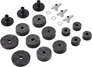 Cymbal Stand Sleeves Cymbal Felts with Cymbal Washer & Base Wing Nuts Replacement for Drum Set of 21