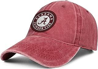 Unisex University-of-Alabama- Baseball Cap Hat - Classic Adjustable Sports Cowboy Hat