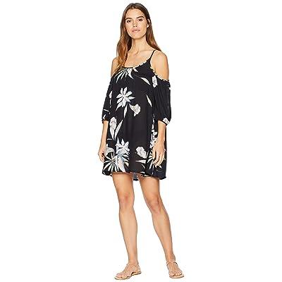 29a7ea15d82173 Roxy Baliana Cover-Up Swimsuit Dress (True Black Delicate Flowers) Women