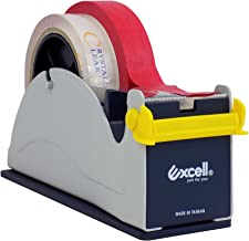 WOD ET-227 Premium Quality Blue and Gray Twin-Roll Steel Desktop Tape Dispenser Weighted Rubber Lined Base for Stability: Fits up to 2 in. Wide (Holds 3 inch core)