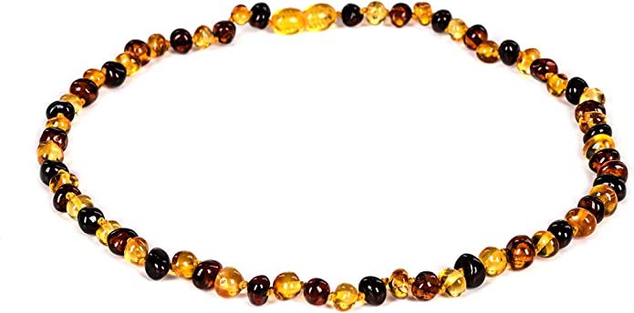 Multi color Genuine natural Baltic Amber Necklace Rounded baroque beads Amber Jewelry Amber Gift for her Handmade