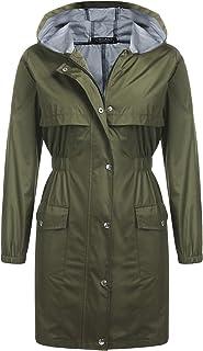 Chigant Women's Raincoat Rain Jacket Lightweight Waterproof Coat Jacket Windbreaker with Hooded