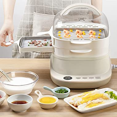 Electric Food Steamer for Cooking, Rice Noodle Roll Steamer, Toaster Oven Cookware, Steam Thermal Internal Circulation Can Be